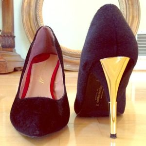 Christian Siriano Shoes - Christian Siriano for Payless black/gold heels