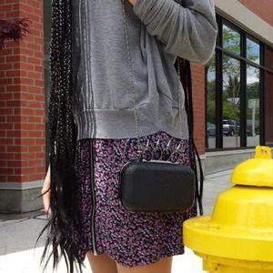 Dresses & Skirts - Floral Mini Dress w/ Exposed Zipper & Black Cutout