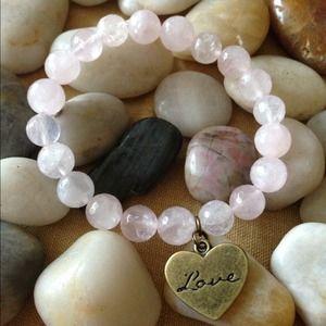 Authentic quartz beaded bracelet