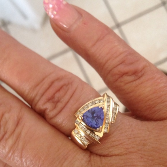 days womens vian le blueberry sale diamond band shop garage tanzanite gold white and ring