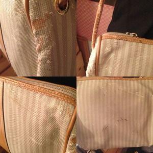 FENDI Bags - FENDI // Authentic Gray Striped Crossbody