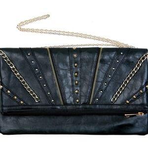Handbags - Black handbag with chain and studs