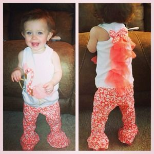 Flamingo mudpie outfit