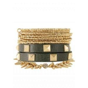 HOST PICKStella & Dot Pyramid leather bracelet