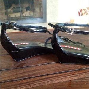 Prada Shoes - 🔴SOLD🔴 Prada Patent Sandals & Brown Slingbacks