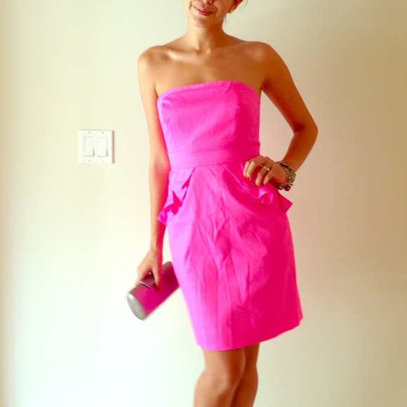 J. Crew - J.Crew Factory Dress Hot Pink Strapless from A's closet ...