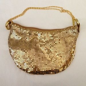 GOLD SEQUIN SHOULDER BAG CLUTCH