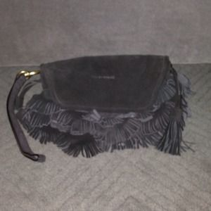 See by Chloe suede fringed wristlet bag