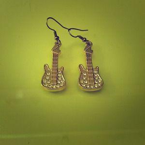 Guitar earrings!