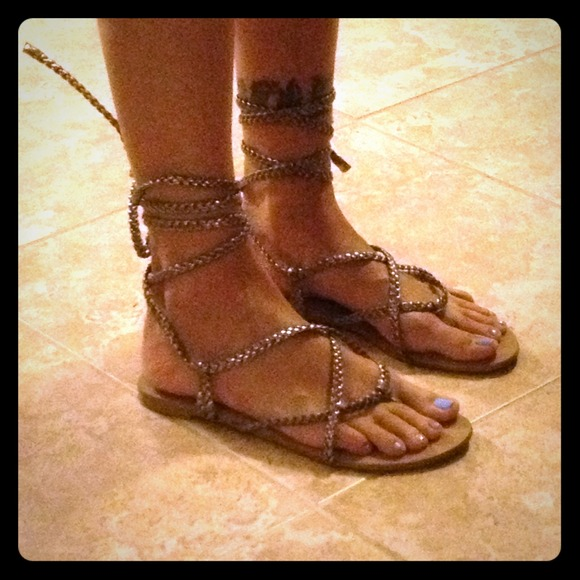 42e29685317 Victorias secret shoes victorias secret braided ankle wrap sandal jpg  580x580 Braided ankle