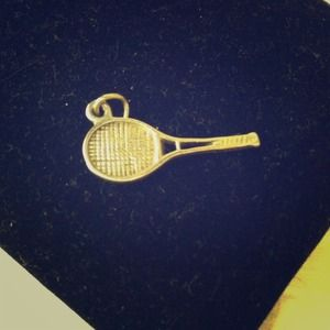 Tennis Racket Charm (chain not included)