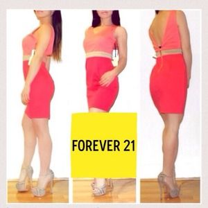 🎉❤️HOST PICK❤️🎉Brand NEW Coral Color Block Dress