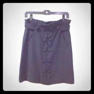 3.1 Phillip Lim Black Button Skirt