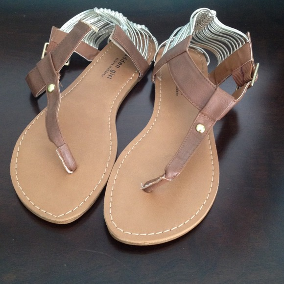 Madden Girl - cognac anzwer sandals (repair)