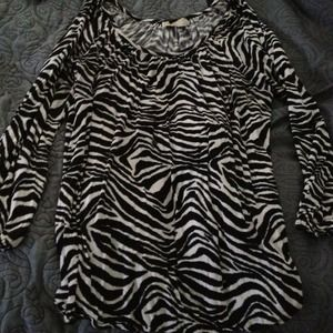 Zebra Striped Michael Kors Shirt