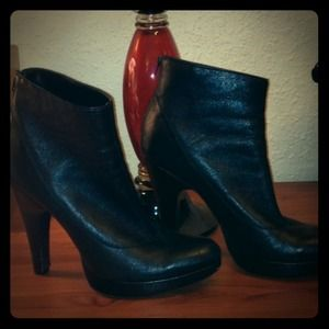 Jessica Simpson Black Leather Boots Booties 9