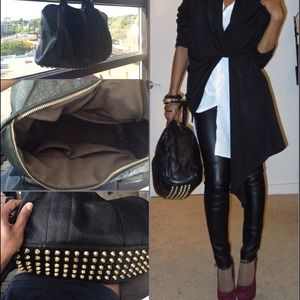 Bags - Black Studded focco bag . Trendy 😊 make offer