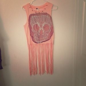 Tops - Reserved for trade with @sjepps1. Fringe crop tank