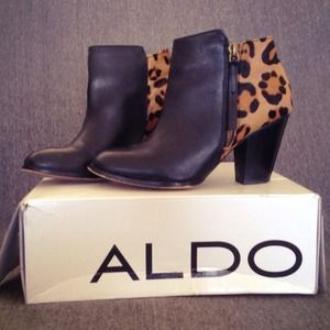 ALDO Shoes - Black & Cheetah Booties