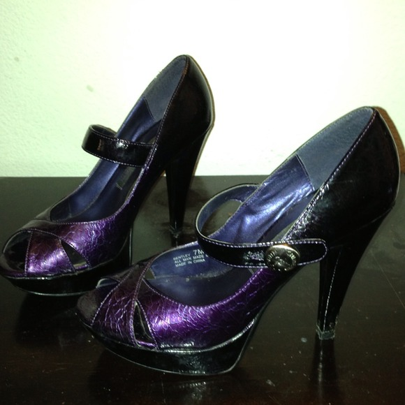 84% off Chinese Laundry Shoes - Chinese Laundry purple ombré Mary ...