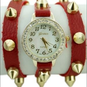 Leather Red Wrap Watch***