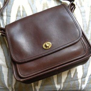 Vintage Coach Legacy Brown Leather Bag