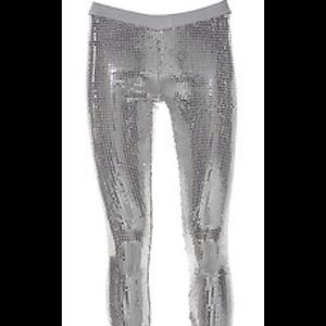 Poof Couture Pants - Silver Sequin Leggings