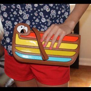 Handbags - ✂️MOVE SALE✂️New KateSpade Macaw Parrot Cay Clutch