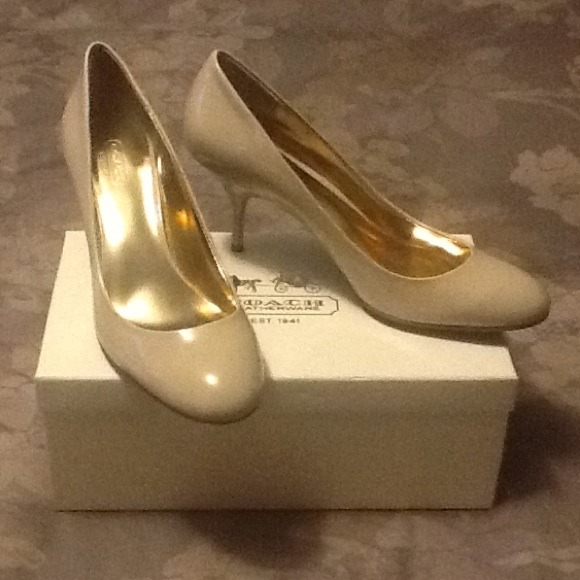 9ccf96816f Coach Shoes   Salma Soft Patent Leather Pumps Nude 10m   Poshmark