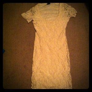 Rue 21 white and orange dress