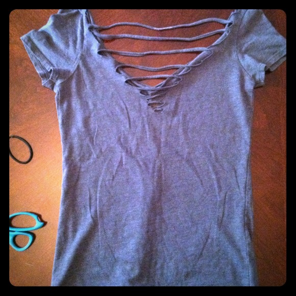 Old Navy Tops Cut Out Slit Back Diy Shirt Free W Any Purchase