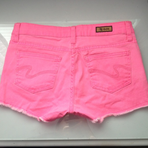43% off STS Blue Denim - Hot Pink Denim Shorts from Emily's closet ...