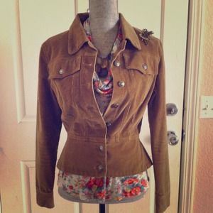 BundledXOXO Corduroy Jacket Heart Buttons sz
