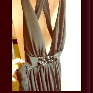 Dresses & Skirts - Crossed Open Back Black Dress