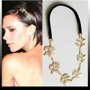 Jewelry - Leaf headband on elastic