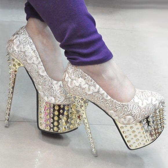 Jessica Simpson Shoes - Platform spike studded pump