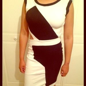 Bebe cut-out dress
