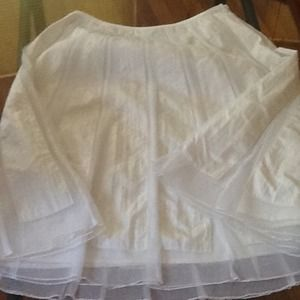 Hot! A line skirt sheer tulle over nylon