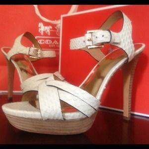 Coach Snakeskin Heels! Hot!! Worn once