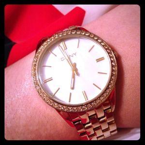 DKNY GOLD AND DIAMOND Watch