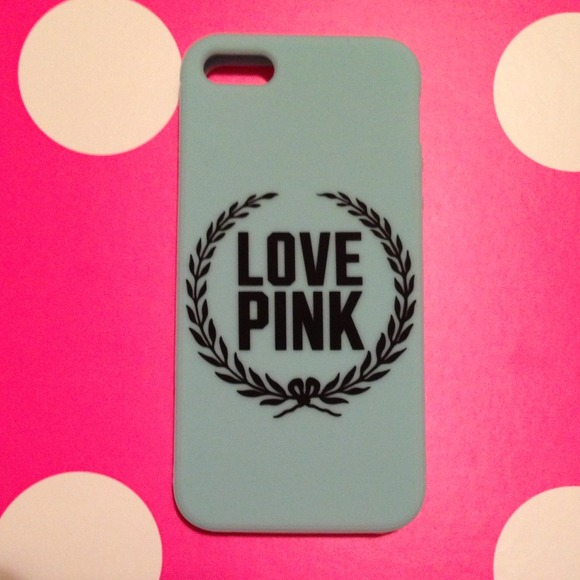 size 40 1319b f9a85 VICTORIA SECRET PINK Mint Green IPHONE 5 SOFT CASE