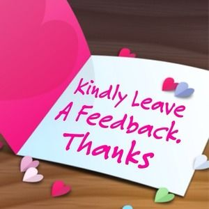 Your Feedback is important to me