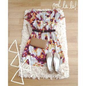 Lush geometric mini dress