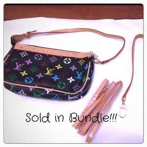 <3 BUNDLED!!! <3 Cute black multicolor clutch