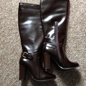 Brand New Brown Knee High Boots