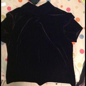 Tops - Velvet shirt black