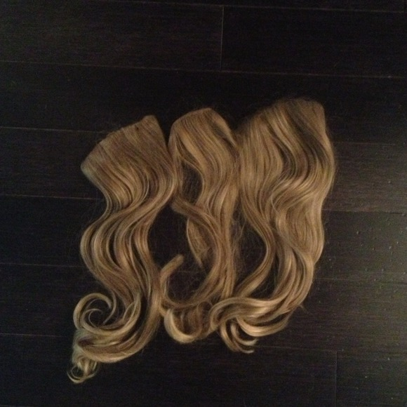 Soho Accessories Synthetic Blonde Hair Extensions Clip In Poshmark