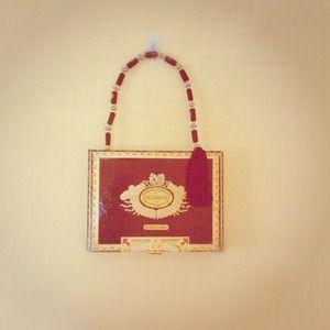 ***Cigar box handbag with tassel
