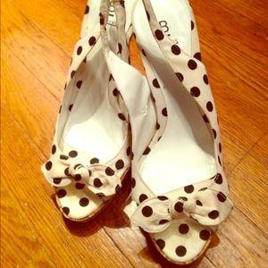 bakers Shoes - Polka dot sling back pumps