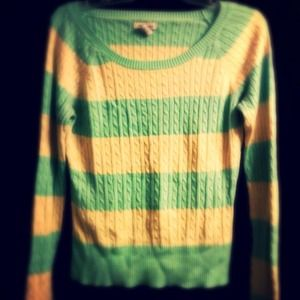 Green and yellow pastel sweater XL from Kayla's closet on Poshmark